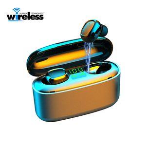 3500mAh LED Bluetooth inalámbrico de auriculares auriculares auriculares G5 TWS Touch Control Sport Headset cancelación de ruido auriculares de oído