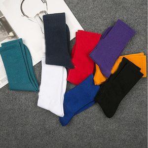 Preto Vermelho Branco Plain Mens Socks New Cotton inverno Sexy Long Business Meias Street Style Masculino Feminino Mulher Sports Christmas Gift Socks