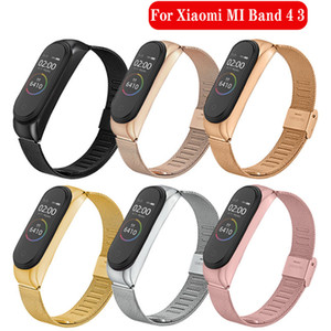 New Metal Stainless Steel Strap For Xiaomi Mi Band 4 Wrist Strap For Xiaomi Miband 4 3 Bracelet For Mi Band 4