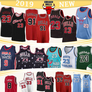 Maglie Mesh MJ NCAA Scottie Pippen 33 23 Michael Pallacanestro maglie Dennis Rodman 91 College di North Carolina State University