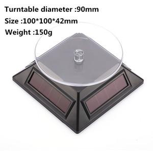 Steht Solar Power 360-Grad-Drehscheibe Schmuck Rotierende Anzeige Tabelle Drehplatte für Uhren- und Juweliergeschäft