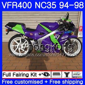 Kit für HONDA RVF400R V4 Neue violettgrüne VFR400R 1994 1995 1996 1998 270 270.2.200 VFR400 RVF VFR 400 R NC35 VFR 400R 94 9596 97 98
