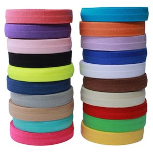 10 ярдов Fold Over Elastic 5/8 15ммы Stretch Foldover Foe резинки лента верфь для ободков связей волос