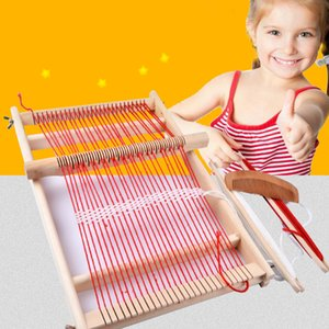 Wooden Multi-Craft Weaving Loom Large Frame 9.85x 15.75x 1.3inches To Handcraft For Kids Knitting Machine Toy Sewing Accessories