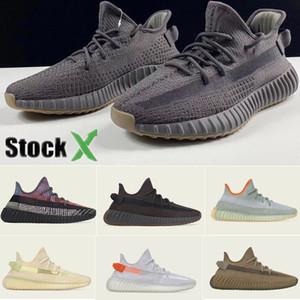 2020 Designer novo Stock X V2 Cinder Terra Sneakers Kanye West Desert Sábio Yeshaya Marsh Yecheil Yeezreel Reflective Mens Women Running Shoes