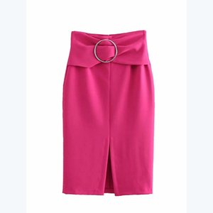 Jupe Angleterre de style Lanon femmes solides droites ouvrants sauvages Joker faldas mujer moda jupe femmes