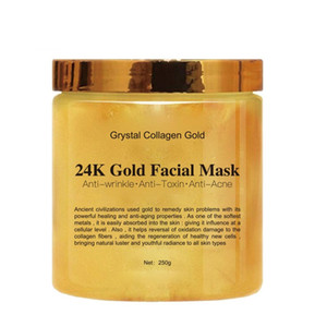 Grystal collagène Or Masque du visage de la femme 24K Collagène Peel Off Masque facial visage hydratant la peau Fermeté