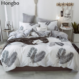 Hongbo Cotton Crystal Flannel Bedding Set With Duvet Cover Bed Sheet Children Kids Girl Leaves Winter Bed Linen