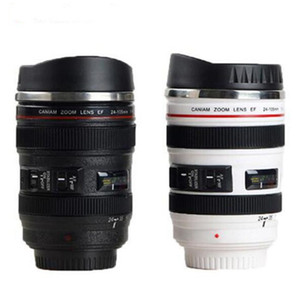 5 Generazione Camera Lens Mug Caffè 13,5 once 400ml in acciaio inossidabile Thermos Tumbler viaggio Flask tazze di latte con coperchio a scomparsa sigillati DHA99