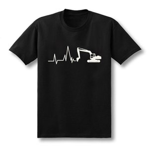 2020 fashion summer New Summer Excavator T Shirts Men Short Sleeve Cotton T-shirt Man