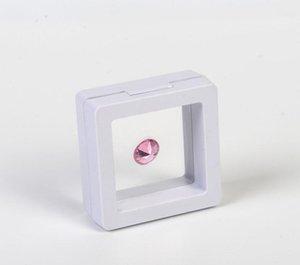 200 قطع أبيض أسود 5 * 5 سنتيمتر العائمة المعلقة عرض القضية عملات الأحجار الكريمة التحف والمجوهرات حامل حامل صندوق تخزين