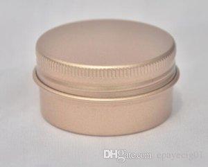 30g 30 ml rosa ouro rosa de ouro jarra de alumínio do metal do recipiente da lata de armazenamento stash frasco redondo com tampa de rosca