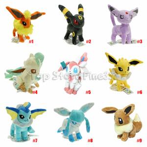 Eevee Família Eevee Bichos de pelúcia Plush Toys 20CM Eevee 9 modelos Plush melhores presentes Kids Brinquedos