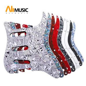 ST FD Electric İçin Çok Renkli 3 Kat 11 Delikler SSS Gitar Pickguard çizilmeye karşı Plakası
