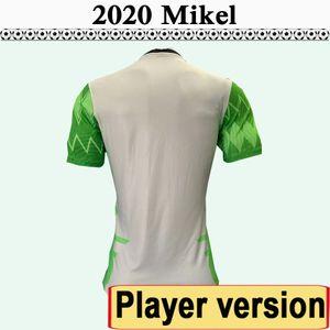 2020 Nigeria jugador Versión MIKEL AHMED MUSA camisetas de fútbol para hombre IHEANACHO Inicio Camiseta de fútbol Equipo Nacional OKECHUKWU Uniformes de manga corta