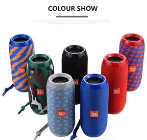 Hot TG117 Wireless Bluetooth Speakers Portable Double Horn 1200mAh Battery Waterproof Subwoofers Speakers Support TF Card FM Radio DHL