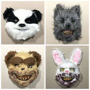 Bloody Rabbit Mask TikTok Celebrity Inspired Cute Animal Makeup Party Headgear Cos Halloween Horror Props