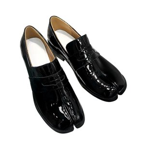 Genuine Leather Black Tabi Flats For Women Spring Summer Slip On Woman Loafers Fashion Dress Women Shoes Hot Selling