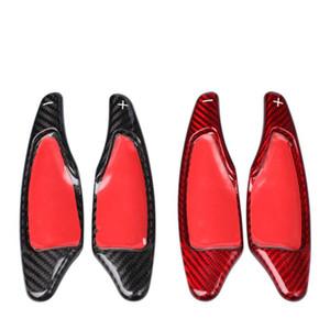 Per Corvette C7 auto volante paddle shift Shifter disposizione della copertura della fibra di carbonio reale DSG