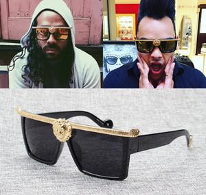 Jackjad 2017 nova moda selvagem leão cabeça decoração anna óculos de sol das mulheres dos homens de design da marca moldura quadrada óculos de sol oculos de sol c19041001