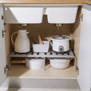Inicio organizador del armario Estante de almacenamiento para la cocina Estante Estantes ahorro de espacio del guardarropa del gabinete decorativos titulares para el hogar