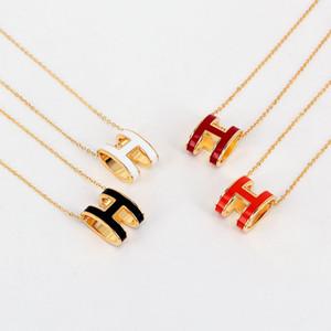 Горячие 316L Titanium ожерелье стали панк с H слова для мужчин и женщин кулон ожерелье в 48см ювелирных изделий подарок бесплатную доставку