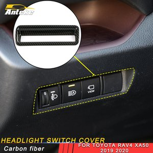 For Toyota Rav4 Rav 4 XA50 2019 2020 Car Headlight Control Cover Trim Switch Button Panel Sticker Interior Accessories
