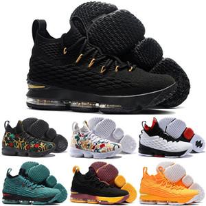 2019 Yeni lebron 15 Külleri Hayalet Yüksek Kaliteli Çocuklar Basketbol Ayakkabıları Sneakers 15 s Erkek Rahat Ayakkabılar