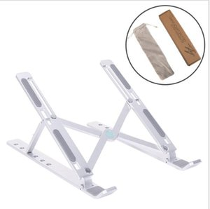 laptop Ventilated Cooling Holder Adjustable Aluminum Alloy Desktop Holder Folding Ultra Laptop Tablet Stand MacBook Desk Accessories DHB495