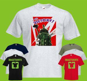 Dr Who Victory Mens IMPRESSO T-shirt retro Vintage TV Dalek Exterminate Villain