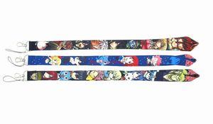 30 PCS Anime-Karikatur feeschwanz Schlüsselanhänger Lanyard Straps Identifikation-Halter japanischen Anime Telefon Key Straps
