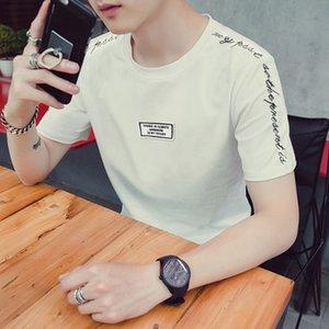 Men's T-shirt short sleeve new summer round neck embroidery t-shirt men's slim Korean t-shirt men's Taobao popular wholesale