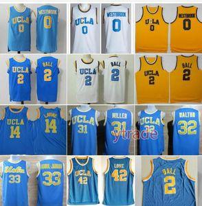 Ncaa UCLA Bruins Jersey College-Basketball Russell Westbrook Lonzo-Ball Zach LaVine Kareem Abdul Jabbar Reggie Miller Bill Walton Kevin Love