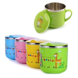 240ML Cartoon Baby Thermo Cup Baby Stainless Steel Water Cup with Lid Kindergarten Thermos Bottle Children Insulation Cup