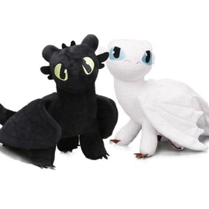 2pcs set 35cm How to Train Your Dragon 3 Plush Toys White Toothless Night Fury Meatlug Stormfly Light Fury Stuffed Animal Dolls T191019