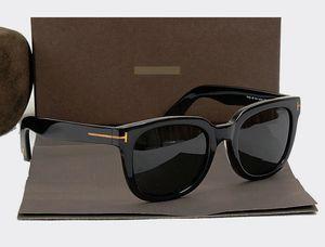 Мода высокой четкости смолы объектив большие рамки поляризованные солнцезащитные очки мужчины женщин леди дизайнер бренда оттенки очки красивая коробка