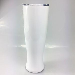 Fai da te di calore di sublimazione 30 once Pilsner a forma di tazza doppio strato tazza Vaso Bicchiere in acciaio inox birra Pilsner bicchieri di birra
