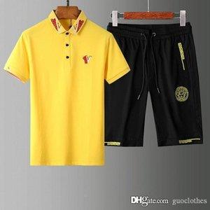 International latest mens designer tracksuits Suit cotton Fashion Tracksuit Polo shirt T-shirt short sleeve shorts mens tracksuits Medusa