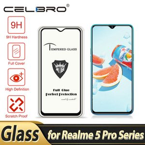 cases2010 Tempered Glass for Realme 5 Pro XT Q Screen Protector Full Cover Clear Protective Phone Glass Film for OPPO Realmi 5 Pro XT Film
