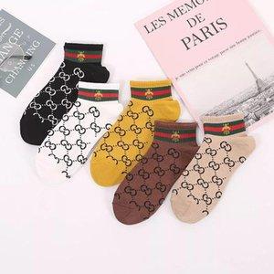 Muti Style Little bee Double G Socks Girls Women Cotton Sports Socks G Short Socks Adult Letter sock