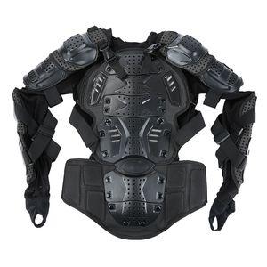 Liplasting pleine de moto Body Armor Shirt Veste Motocross Retour épaule Protecteur vitesse M-XXXL Noir de moto Veste