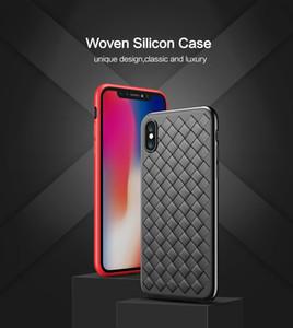 Weave Soft Phone Case para iPhone 8 X XS Max Luxury Grid Cases para iPhone 6 6s 7 8 Plus XR XS Funda de silicona Accesorios