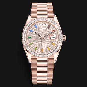 Diamant-Doppelt-Kalender Herrenuhr Wasserdichte Uhr-Quarz-Uhr-Edelstahl-Armbanduhr-kühle Mann-Uhr Schönes Mal Geschenk