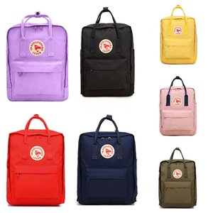 Fjallraven Kanken No.2 Leather Brick Yellow Canvas Bags New Style Popular Computer Bags Waterproof Backpacks Free Shipping #QA890