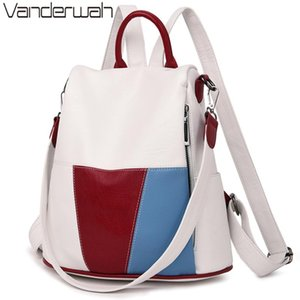 2020 Anti-theft Women Leather Backpack Female School Shoulder Bags For Women Travel Ladies Bagpack Mochilas Feminina Preppy Sac