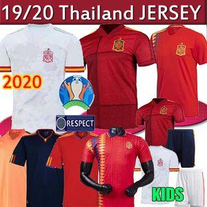 2020 España camiseta de fútbol Camiseta España PACO MORATA A.INIESTA PIQUE retro 1994 España 2010 Copa de Europa ALCACER SERGIO ALBA mujeres hombres niños fo