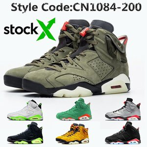 TOP Qualité Jumpman Stock x Travis Scott 6 6s jack cactus Hommes Chaussures de basket-ball 3M réfléchissant infrarouge Oregon Ducks entraîneurs des hommes de chaussures de sport