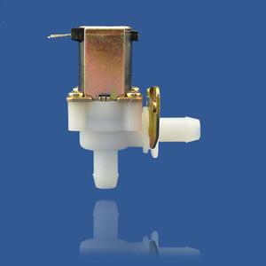 válvula solenóide água 220V, a válvula de solenóide 24 V CC / DC12V cânula de plástico solar, bobina de cobre puro, 10MM intubação ângulo direito da válvula solenóide