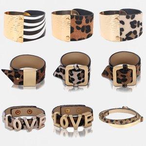 Dvacaman Moda Leopard Charm Deri Bilezikler Kadınlar Bileklik Cuff Bilezik Retro Basit Yılan Bileklik Kadın 2020 Yeni Takı