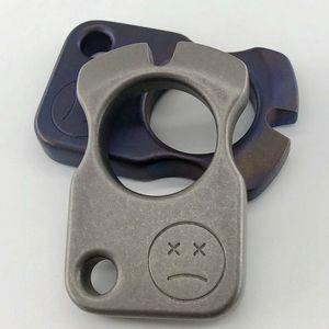 Single doigt Titanium Knuckle Duster Bague TC4 Spe Defense Punch Punch Daggers Outdoor Knuckle Survie Poche Edc Knuck Knuckles Multi outils